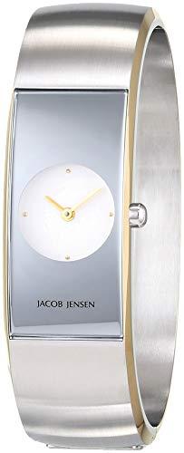 JACOB JENSEN Reloj Analógico para Mujer de Cuarzo con Correa en Acero Inoxidable JJ481
