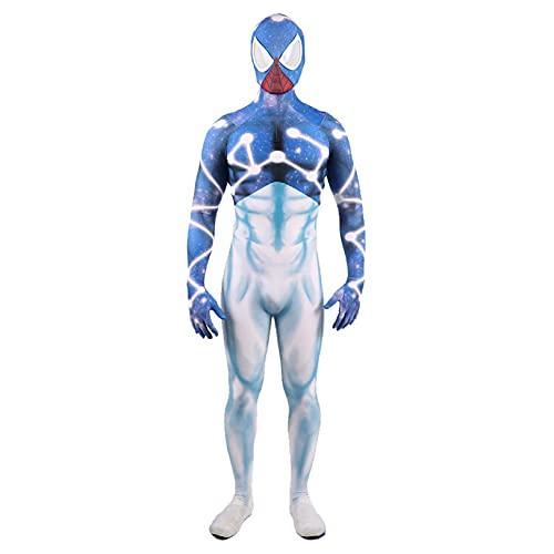 Spiderman Cosplay Costume Starry Sky Blue White Letards Leotards Muestra Muestra Muestra De Rendimiento De MuestracióN Halloween Dispositivo Dispositivo Cuerpo Completo,bodysuit-Kids XS(95~115cm)