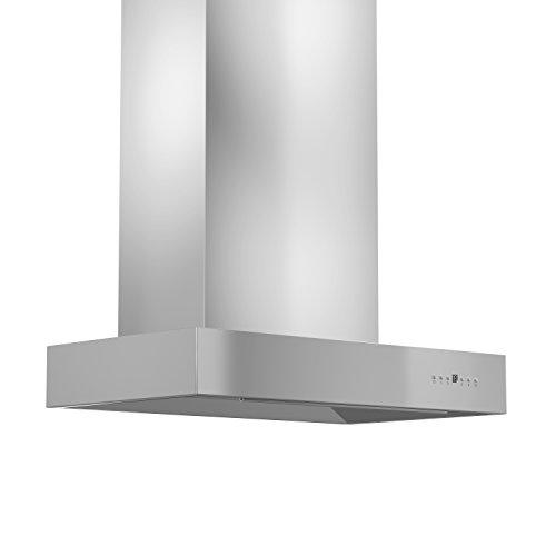 "Z Line KECOM-RS-42 Z Line 900 CFM Wall Mount Range Hood with Remote Single Blower, 42"", Stainless Steel"