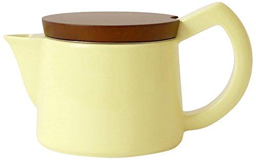 Sowden SoftBrew Kaffeekanne Jakob 0.4L gelb mit Holzdeckel