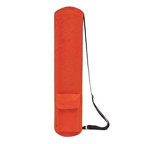 YOTIMO Yoga Mat BagFull Zip Exercise Yoga Mat Sling Bag with MultiFunctional Storage Pockets Orange