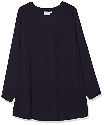 KAFFE Damen Amber V-Neck Tunic Bluse, Blau (Midnight Marine 52737), 34