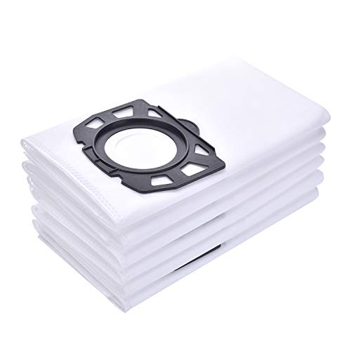 Gulongome Paquet de 10 Paquets de Filtre Polaire de Remplacement pour Filtre Aspirateur Karcher WD4, WD5, MV4, MV5, MV6, WD4.000 WD5.999 Aspirateur pour déchets secs et humides