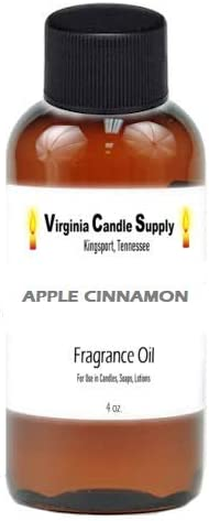 Max 77% OFF Apple Cinnamon Fragrance Oil 4 oz for Candle unisex So Making Bottle