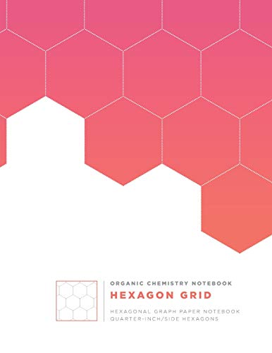 ORGANIC CHEMISTRY NOTEBOOK: Hexagonal Graph Paper | Organic and Bio Chemistry journal | Periodic Table, Index, Numbered pages, to-do list | Pink grid composition book