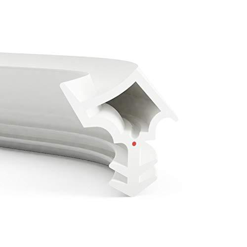 DIWARO® Stahlzargen-Dichtung SZ006 | weiß oder grau | 5 lfm für Haus- und Innentüren. Zum Schallschutz und abdichten der Tür. Bestehend aus TPE (Thermoplastischen Elastomer) (weiß)