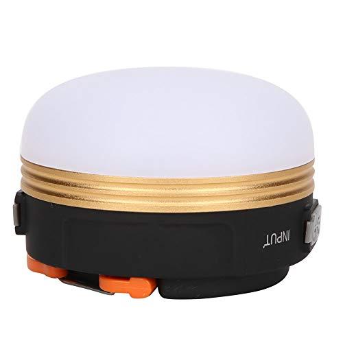 ROMACK Tienda de campaña Linterna Lámpara de Tienda Camping Luces de Emergencia Durable al Aire Libre Carga USB Portátil Colgante Luz LED magnética para Acampar(USB de círculo Dorado)