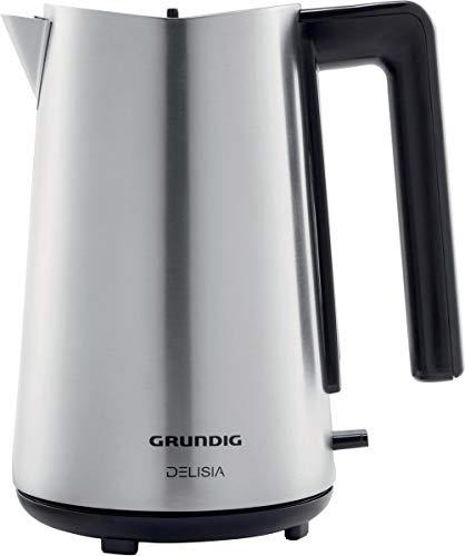 GRUNDIG Wasserkocher WK 7680, Edelstahl/schwarz, 1,7 Liter
