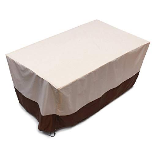 SYUS Cubierta De Muebles De Ratán De Patio,Rectangular Funda Muebles Oxford para Muebles De Jardín Sofa Silla De La Mesa Interior Y Exterior Cubierta Protectora