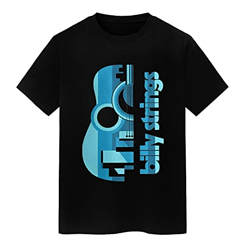 summerator Men's Graphic Tees - Billy Strings T Shirts for Men Black Large