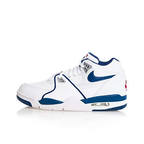 Nike Herren Air Flight 89 Laufschuh, Blanco/Rojo Universitario/Azul Royal Oscuro, 42 EU