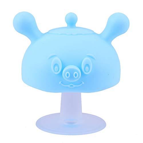 Toddmomy Blauer Pilz Baby Beißring Beißspielzeug Silikon Säugling Zahnen Erleichterung Zahnen Baby Junge Mädchen Säugling Beruhigender Beißring zum Saugen Babys Backenzahn Spielzeug