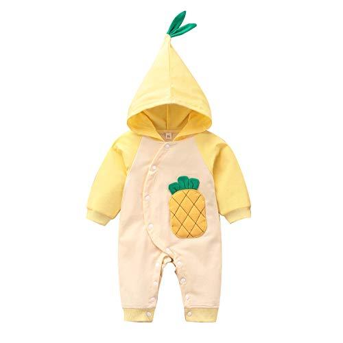 DaMohony Baby Kapuze Strampler Baby Baby Jungen Mädchen Ananas Muster Overall Pyjama