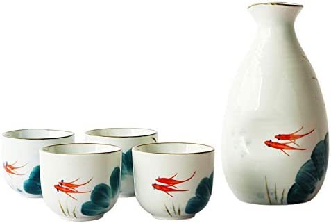 New product Caalio Japanese Sake Set - Porcelain Bottle 8 oz fl Tokkuri OFFicial store