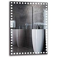 Espejo LED Premium - Dimensiones del Espejo 70x100 cm - Espejo de baño con iluminación LED - Espejo de Pared - Espejo de luz - Espejo con iluminación - ARTTOR M1ZP-57-70x100 - Blanco frío 6500K