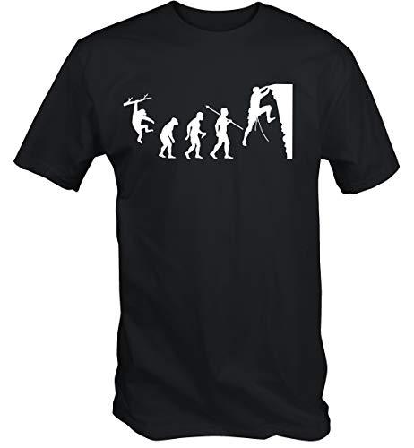6TN Hombre Evolución de la Escalada Camiseta (XL)