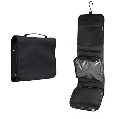 Hanging Toiletry Bag WEST by Nomalite | Black Folding Travel wash Bag...