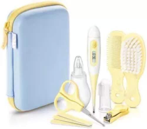 Baby-Pflegeset Baby Erstausstattung Pflegeset für Neugeborene Tolle Geschenke -Hellblau und Gelb
