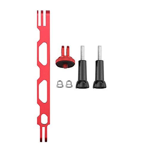 WOIA Adaptador de Base de Montaje Soporte de Brazo de extensión Soporte de Tornillo de 1/4 para Insta360 One X2, Rojo