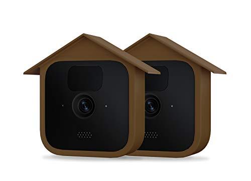 Holaca Blink Outdoor-Kamera-Abdeckung, Vogelhaus-Hülle für neue Blink Outdoor-Sicherheitskamera, Silikonhaut für Blink Kamera, kratzfeste Schutzhülle für vollen Schutz (2 Stück, braun)