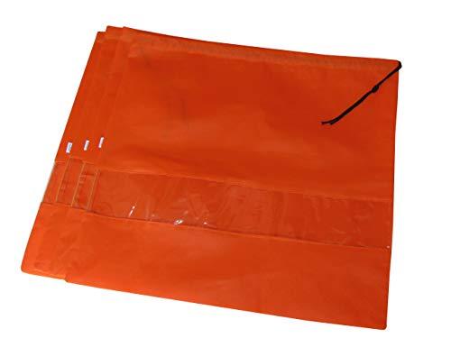HB Staubschutzbeutel mit Kordelzug, Vlies, 4 Stück, atmungsaktive Aufbewahrungstasche mit Sichtfenster, Orange (Orange) - 01249