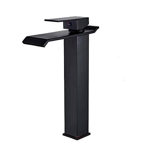 Grifo de Agua Negro Grifo de Agua de una Sola Etapa Grifo de Agua fría y Caliente Grifo de Agua de baño
