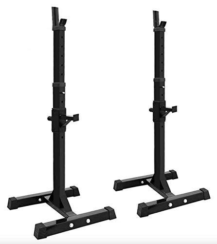 Bodyworks Justerbar höjd kraftig knäböjningsstativ med säkerhetslås och skivstångsställning | reparera | rehabilitera
