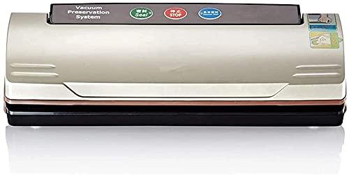 Sellador de vacío, máquina de sellador de alimentos automática, sellado de un toque, sellado / vacío para alimentos secos, preservación fresca, luces indicadoras fáciles de limpiar, diseño compacto