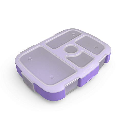 Bentgo Kids Prints Tray with Transparent Cover-Reusable, BPA-Free, 5-Compartment Meal Prep Container with Built-In Portion Control for Healthy At-Home Meals and On-the-Go Lunches (Mermaids in the Sea)