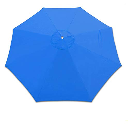 Strong Camel Replacement Cantilever hanging Umbrella Canopy for 10ft 8 ribs in (Canopy Only) (Blue97)