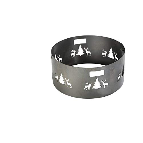 Pare-étincelles pour brasero 55 cm 2 pièces avec motif chasse