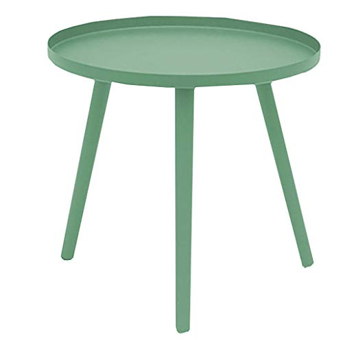 Home Décor Products Snack Coffee Table End Tables Side Table Patio Coffee TablesEasy Assembly Compact Multipurpose Espresso Metal for Small Space Green