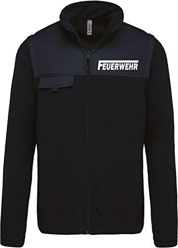 Coole-Fun-T-Shirts Feuerwehr - Fleecejacke - reflektierende Folie Navy Gr.4XL