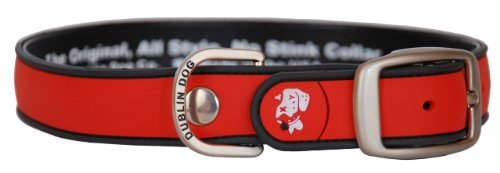 All Style, No Stink Dog Collar,Red Gray, Large 17' x 21.5'