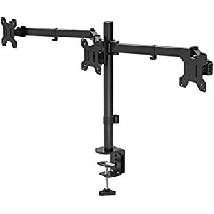 "1home Triple Arm Desk Mount LCD LED Computer Monitor Bracket Stand 13""-24"" Screen TV"