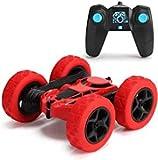 YuWei Smart Ferngesteuertes Auto, 360 ° Flip Stunts, 2.4ghz Funkfernbedienung, Wiederaufladbarer Rc Hochgeschwindigkeits-Offroad-Rennwagen, Spielzeuggeschenk FüR Kinder Von 6 Bis 12 Jahren (Rot)