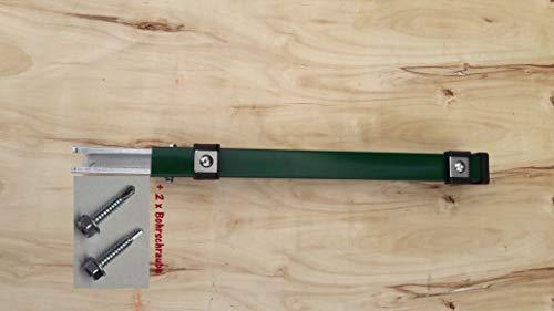 Verlängerung Zaun Erhöhung Pfosten Zaunpfosten Aufstocken Doppel Stab Matten 60 cm Grün