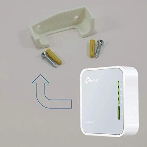 TP Link AC750 draadloze reisrouter WR02AC wandsteun onder bureau houder (wit)
