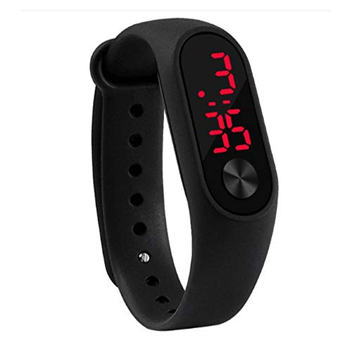 5 relojes de pulsera para hombre Famale Casual Sports Durable LED Electronic Digital Comfortable Silicone Wrist Watch
