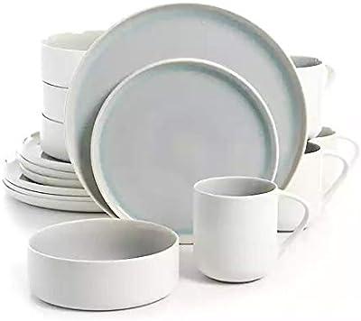 Urban Loft Denia 16 Piece Dinnerware Set, Blue