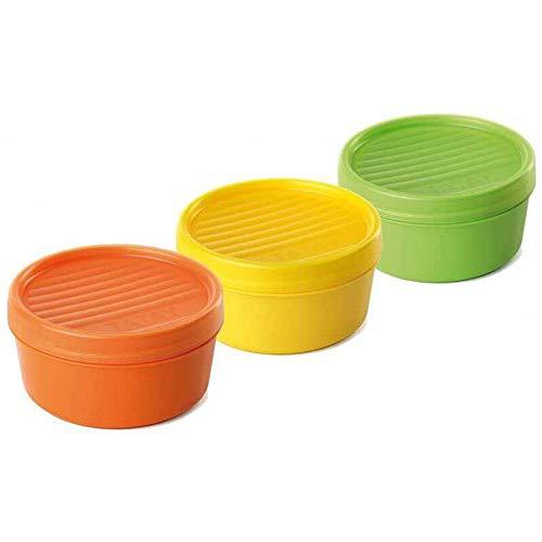 Tatay Porta Frutas y Alimentos de 0,5L, Libre de BPA, Reutilizables, Apto Lavavajillas y Microondas, Porcelain