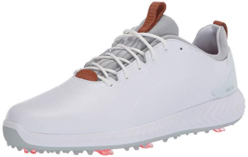 PUMA Golf Men s Ignite Pwradapt Leather 2.0 Golf Shoe, White White, 10 M US