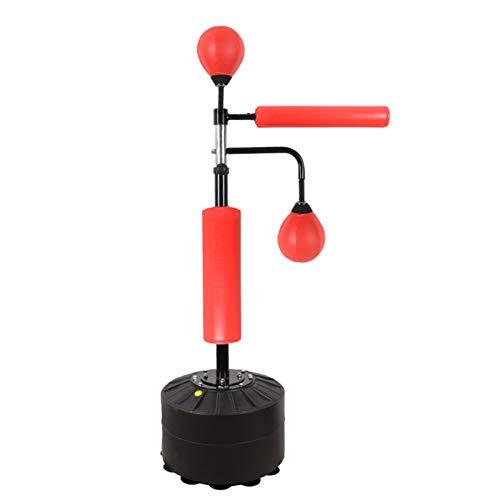 LLHSHA Freistehender Boxsäule,Reflex Speed Boxball Mit Luftpumpe,Boxsack Für Erwachsene Kinder An Fitness Stress Abbauen Training-Red-b 190cm