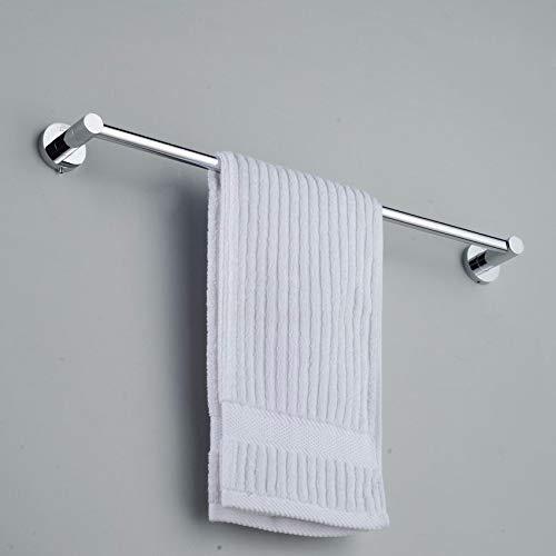 Handdoekhouder, koper, eenpolig, badkamer, chroom, 40 cm