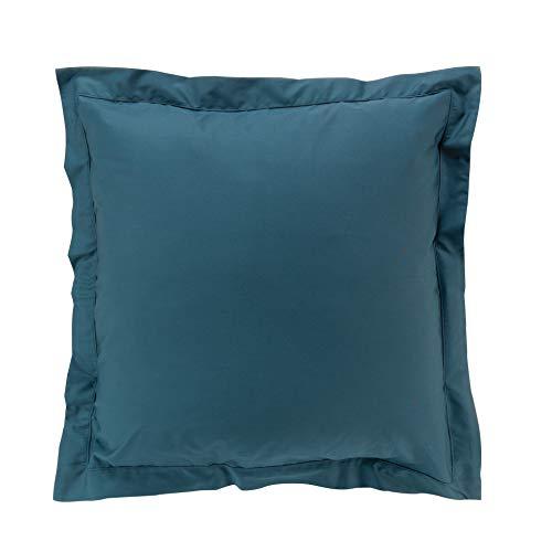 Funda de Almohada de percalina para Interior, 63 x 63 cm, Color Azul