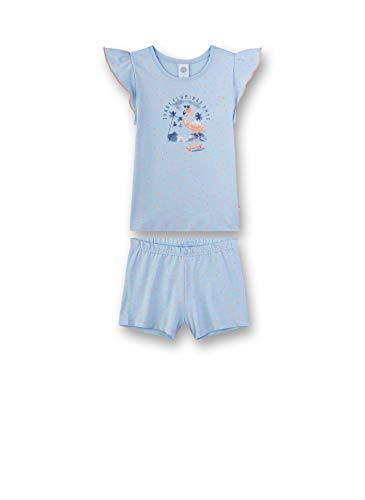 Sanetta Mädchen kurzer Pyjama Zweiteiliger Schlafanzug, Blau (Ice Blue 50310), (Herstellergröße: 140)