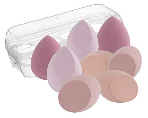 DULEE 8 Stücke Make up Schwämme Set Beauty Foundation Mischschwamm Sponge Blender für Flüssigkeit, Puder, BB-Creme und Sonnencreme,Rosa