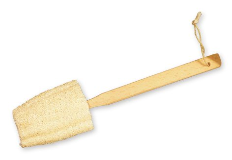 Agiva Esponja exfoliante de lufa corporal para baño mango largo