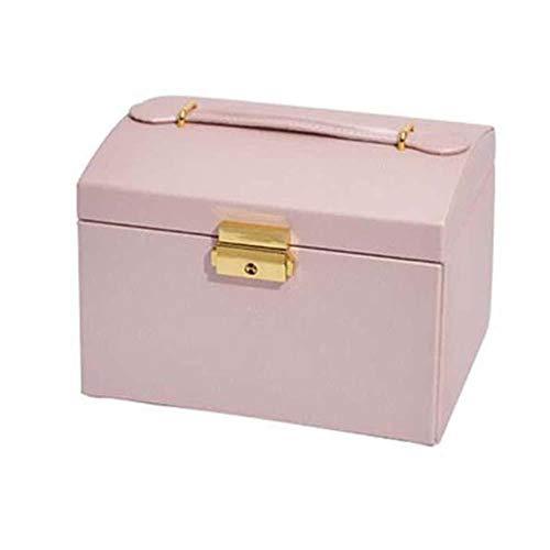 NFRADFM Caja de joyería,Caja de joyería de almacenamiento de tres niveles,Caja de almacenamiento de hilo de seda portátil,Pendientes de tuerca anillo caja de joyería