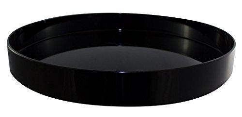 Plateau de service rond antidérapant Noir Diamètre 32 cm